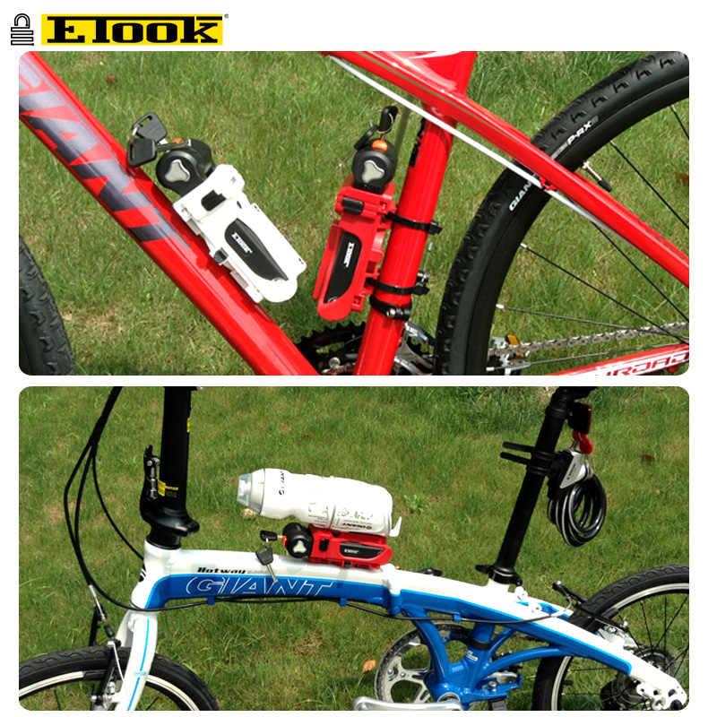 Etook Lipat Kunci Sepeda Gunung Sepeda E-Kunci Sepeda Aksesoris Sepeda Paten Kunci Braket Desain Botol Dapat dipasang