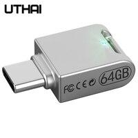 UTHAI C12 тип-c OTG USB3.0 флеш-накопитель USB-C флеш-накопитель смартфон память Мини Usb Флешка 32 Гб 64 г