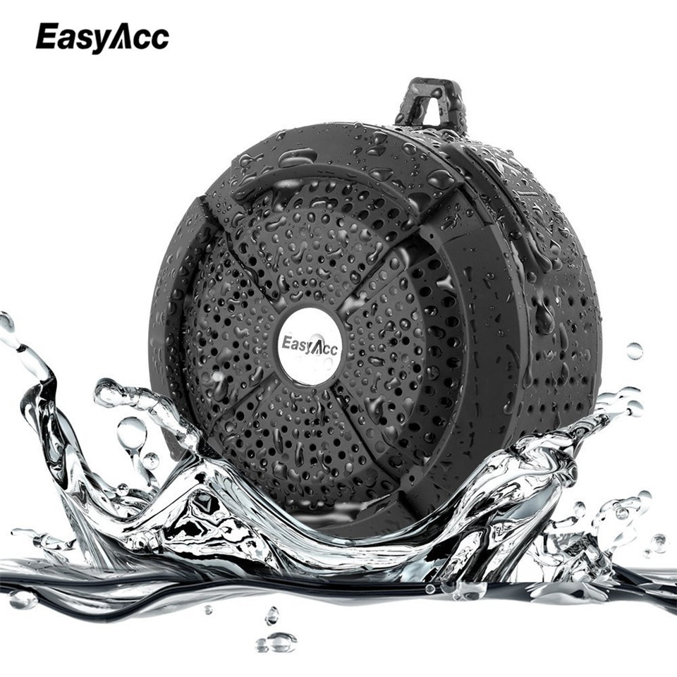 EasyAcc Wireless Bluetooth Speaker Waterproof Portable Outdoor Mini Speaker with Micro SD TF Card Aux in BT4.0