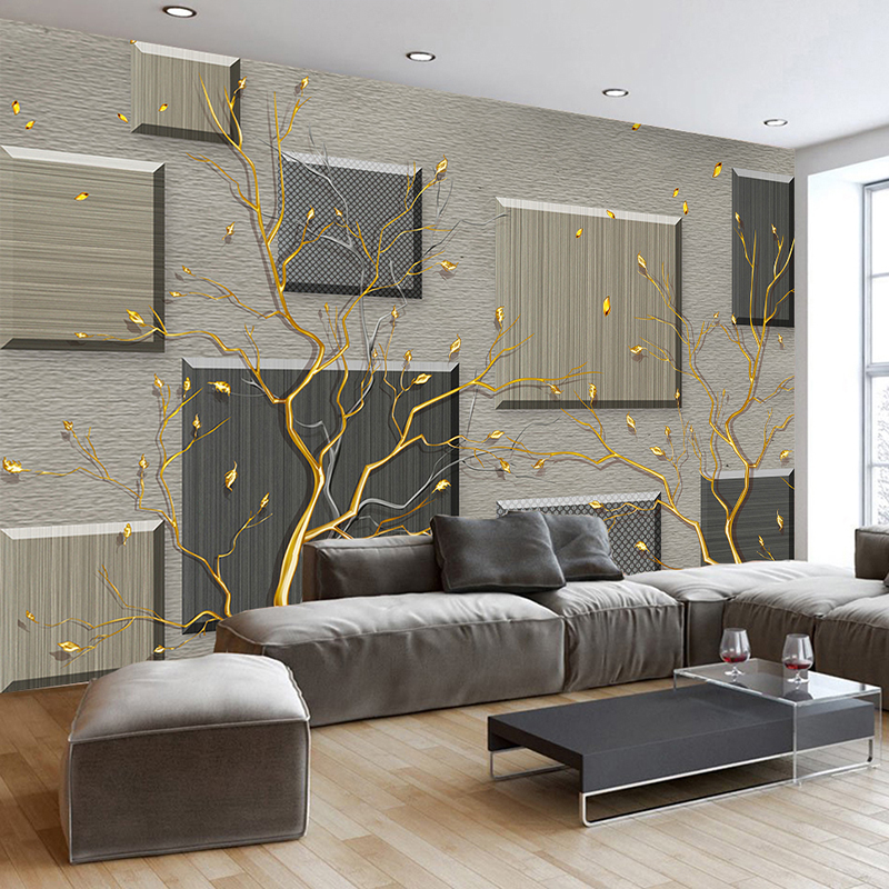 Custom 3D Wallpaper Murals Modern Simple Abstract Tree ...