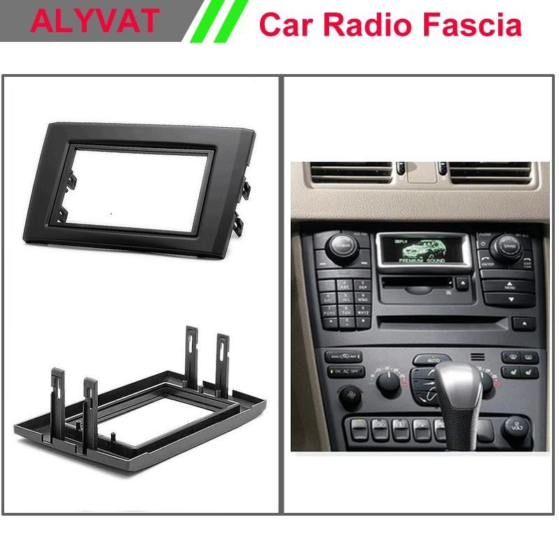 Top quality Car Radio DVD CD Facia Frames for VOLVO XC90 2002-2014 Stereo Fascia Dash CD Trim Installation Kit car radio dvd fascia frame installation dash mount kit stereo install for mitsubishi mirage 2012 space star 2013