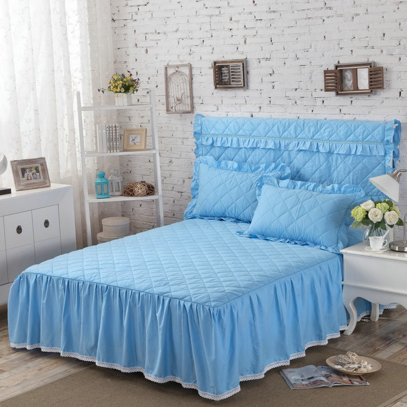 THICKEN winter quilted bed skirt 100% cotton Bed cover cotton pad - Home Textile - Photo 6
