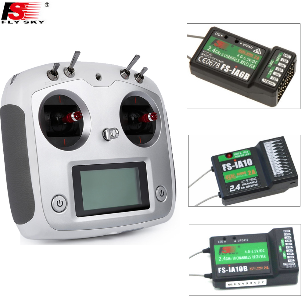 1set FlySky FS-I6S Remote Controller 2.4G 6ch Radio Transmitter+IA6b/IA10/IA10B Receiver for RC Quadcopter Multirotor Drone mkron i6s 2 4g 6ch dsm2 compatible transmitter with 3 way switch