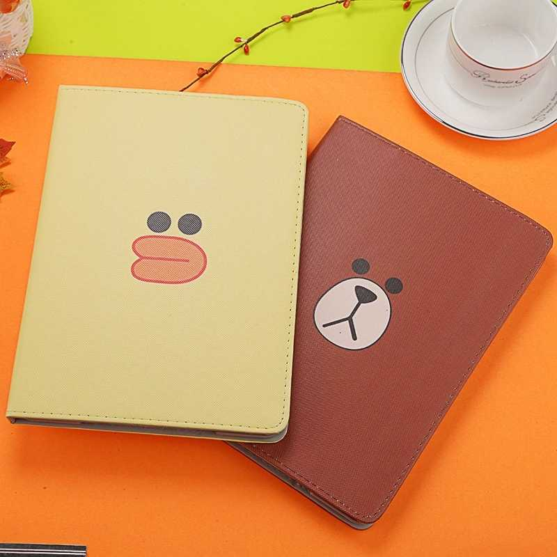 Mooie Cartoon animal Flip Cover Case Voor iPad 2/3/4 Air Air2 Tablet Case Stander Cover voor nieuwe iPad 9.7 mini Auto Wakker/Slaap