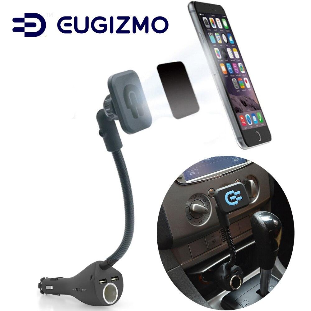 bilder für Eugizmo Auto Magnethandyhalter mit Dual USB Port Ladegerät Zigarettenanzünder auto Ladegerät für Handys GPS MP3 MP4