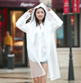 Raincoat Outdoor Adult Long Section of Men and Women Hiking Korean Fashion Hat Transparent Poncho Single Plus Size Rain Coat