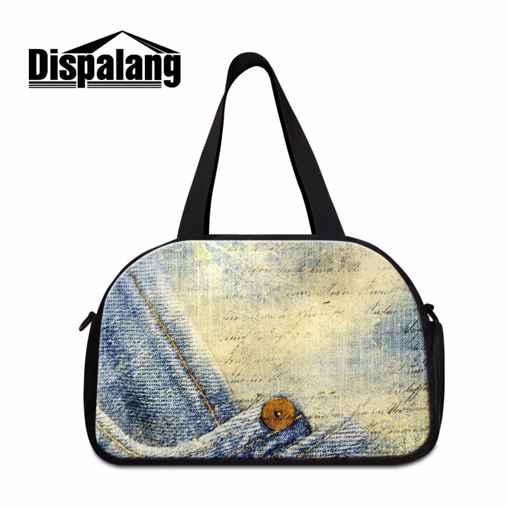 Dispalang Big Travel bag Patterns for Women Fabric Vintage Printing Shoulder Duffle bag Mens Traveling Tote bag Garment Bag girl