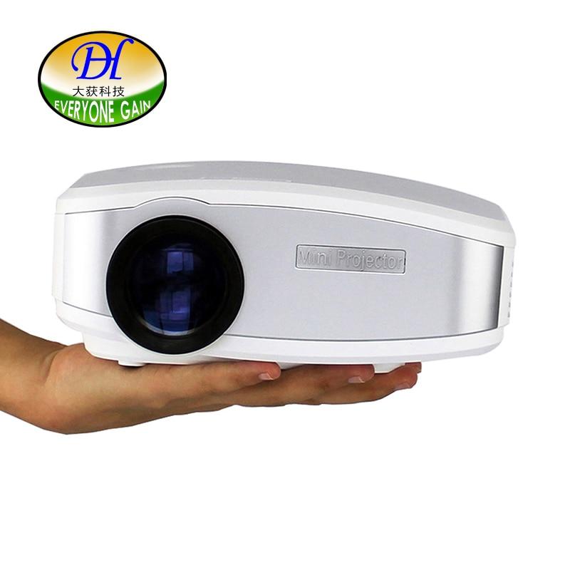Todo el mundo Obtener 3D LCD Proyector Construido en Altavoz de Cine En Casa Sop