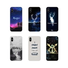 For Apple iPhone X XR XS MAX 4 4S 5 5S 5C SE 6 6S 7 8 Plus ipod touch 5 6 Accessories Phone Shell Covers Harry potter(China)
