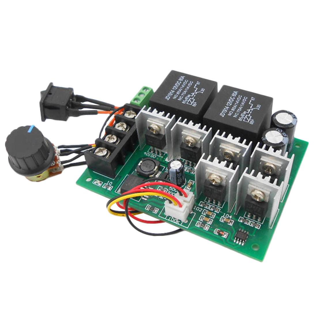1PCS DC 10V-55V 12/24/36V 40A Motor Speed Controller Electric PWM Speed Control Regulator With CW CCW Reversible Switch1PCS DC 10V-55V 12/24/36V 40A Motor Speed Controller Electric PWM Speed Control Regulator With CW CCW Reversible Switch