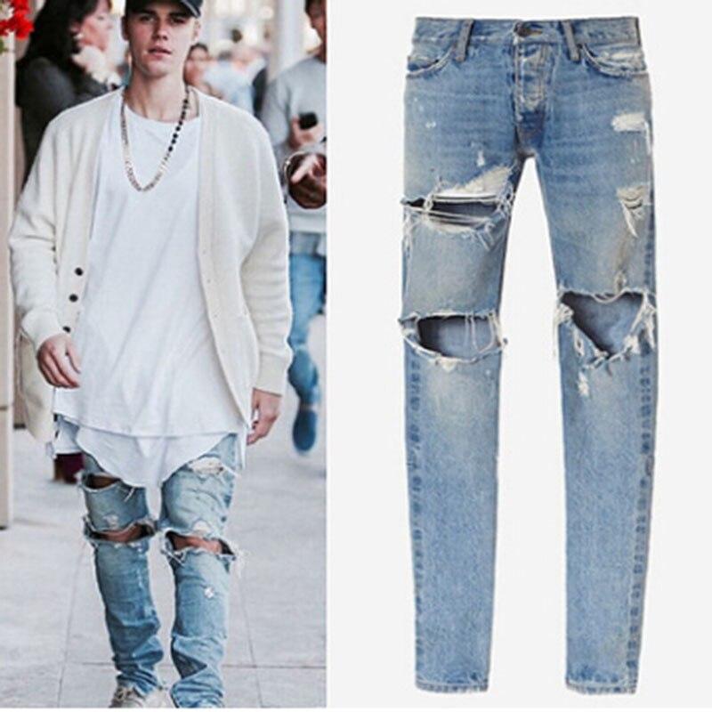 2018 été Skinny Jeans hommes Stretch Slim Denim Jeans décontracté coton lavé Designer vêtements Jeans Masculino Jean Homme