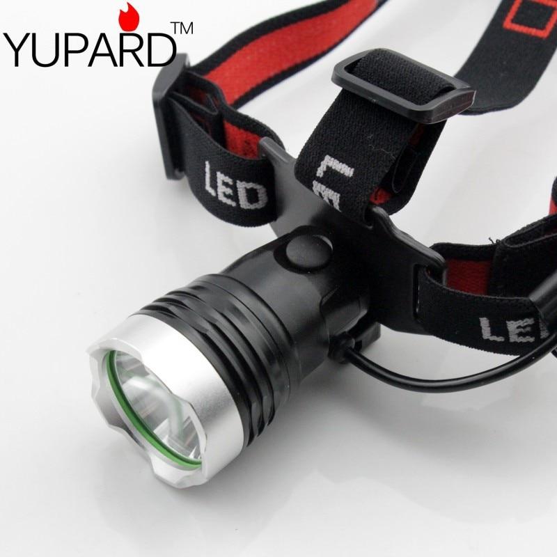 YUPARD Scheinwerfer Scheinwerfer mit XM-L T6 LED Stirnlampe Kopflampe Scheinwerfer 1x18650 oder 3xAAA Akku Camping