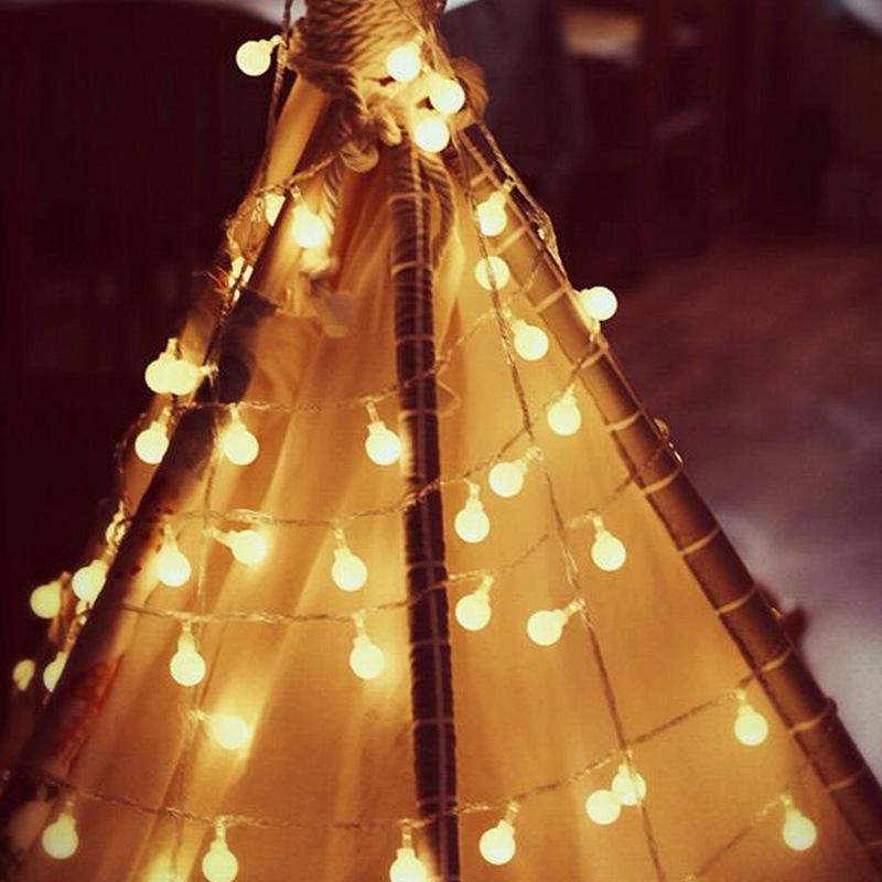 1 2 3 ... - LED Round Ball Small Bulb String Lights Flashing Lights Fashion