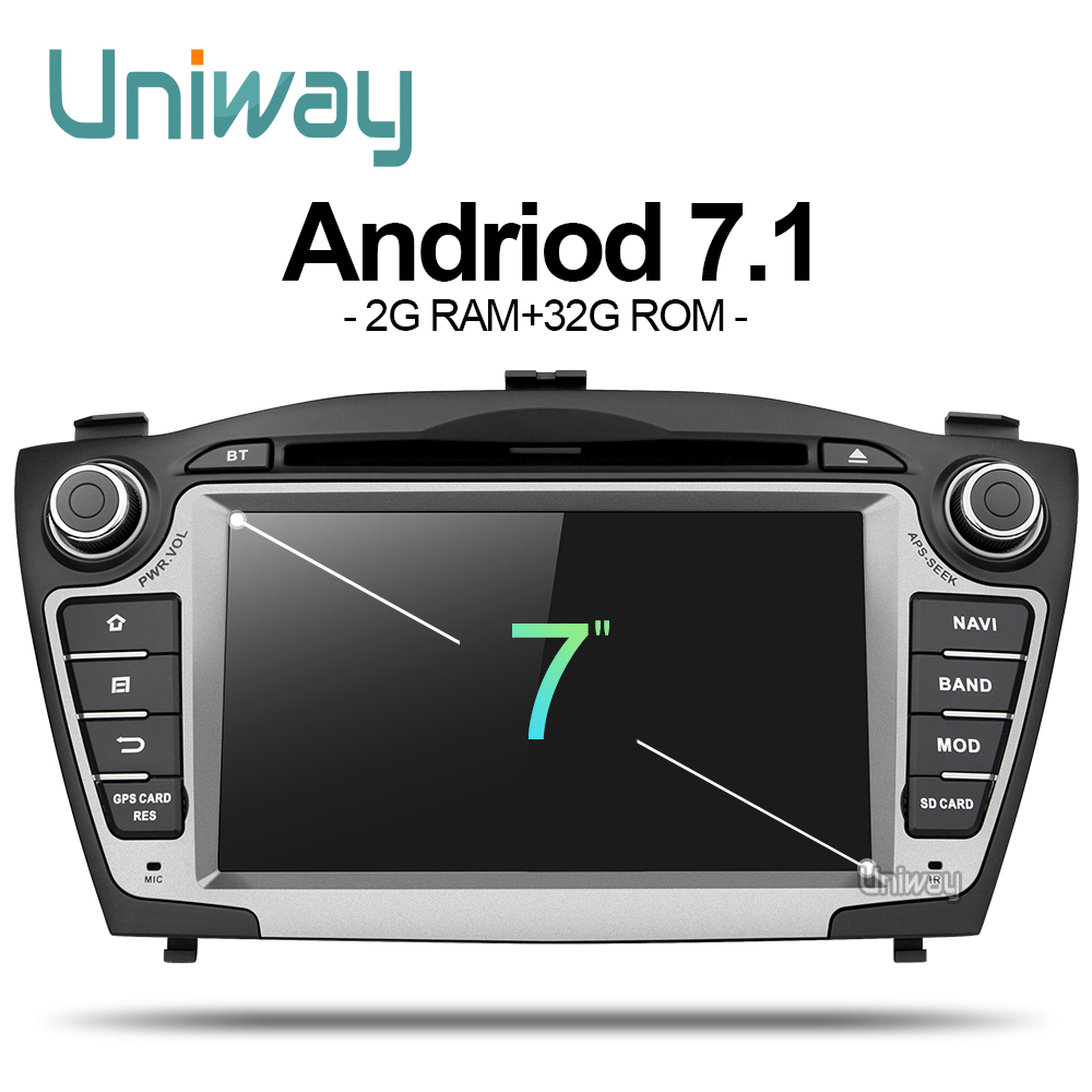 uniway ZIX357071 android 7 1 car dvd player gps for Hyundai IX35 Tucson 2009 2010 2011