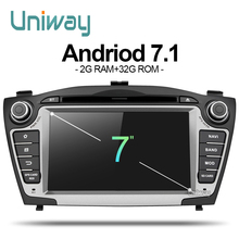 uniway ZIX357071  android 7.1 car dvd player gps for Hyundai IX35 Tucson 2009 2010 2011 2012 2013 stereo car navigation