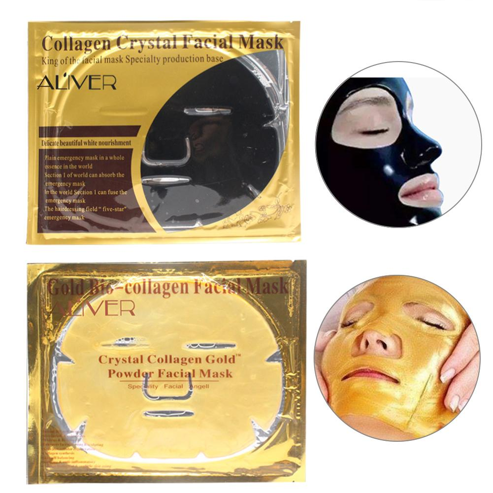 Collagen Crystal Powder Gold Black Face Mask Moisturizing Hydrating Anti Wrinkle Whitening Anti-aging Facial Mask Skin Care