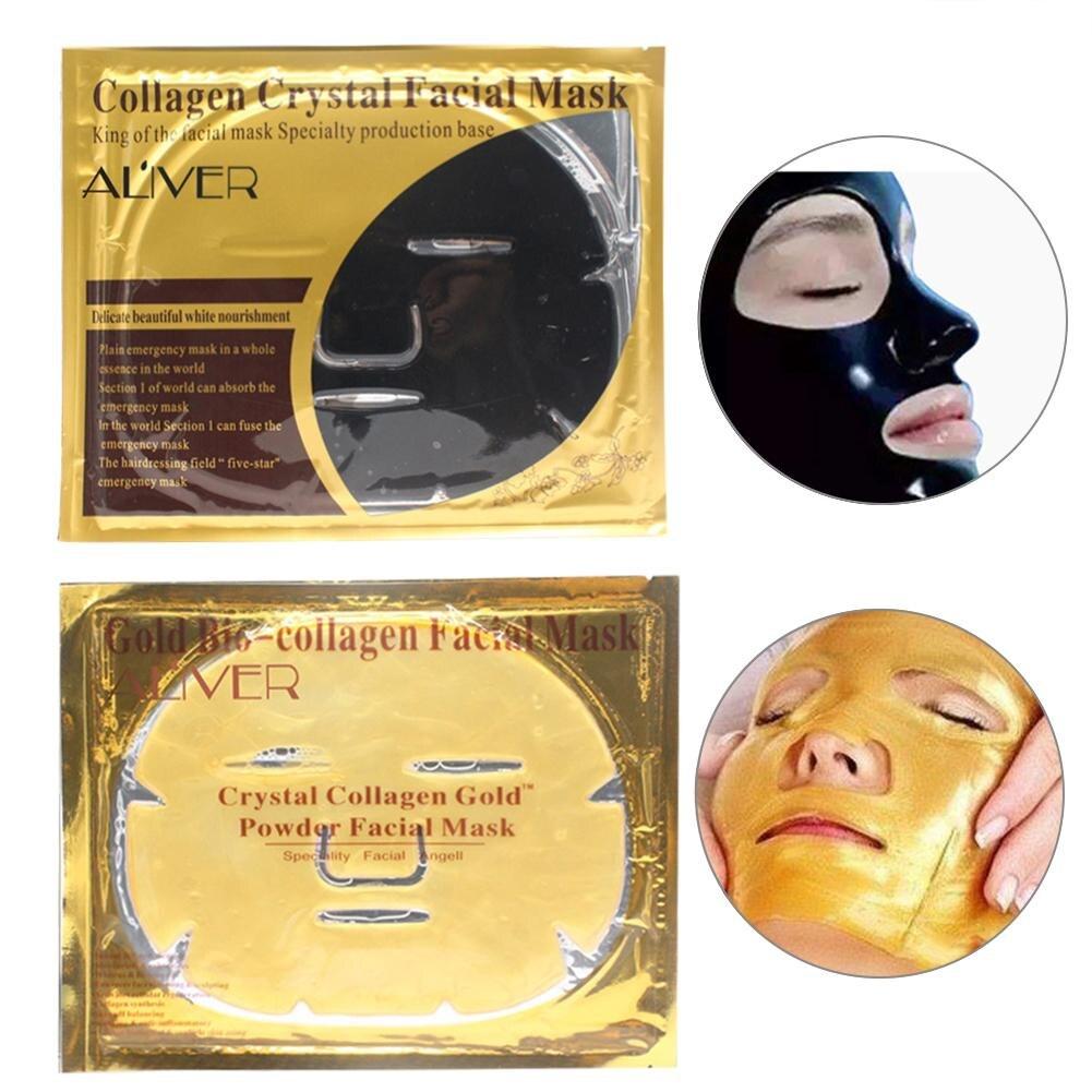 Collagen Crystal Powder Gold Black Face Mask Moisturizing Hydrating Anti Wrinkle Whitening Anti-aging Facial Mask Skin Care Facial mask