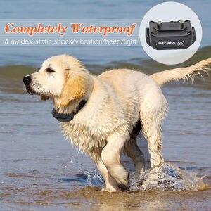 Image 3 - Petrainer Dog Training Kraag Elektrische Schok Huisdier Kraag Anti Bark Halsbanden Opvoeder Tracker 330 Yards Remote voor alle Size Hond