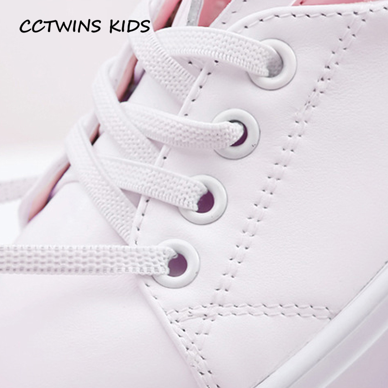 CCTWINS-KIDS-2017-Toddler-Fashion-Leather-Sport-Shoe-Children-Black-Breathable-Sneaker-Baby-Girl-White-Bunny-Flat-F1689-5