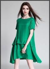 4XL women dress for summer 2017 fashion green brief cute brand plus size woman party dresses female casual work big dress