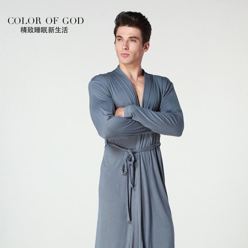 New Plus Size Men Casual Breathable Soft Modal Bath Robes Lounge Homewear Sleep Robe Set Men's Bathrobe Sets M18302