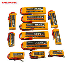 RC LiPo батарея 2 S 7,4 в 2200 мАч 3300 4000 4500 5200 6000 30C 40C 60C для Вертолет Quadrotor Аккумулятор для грузовика