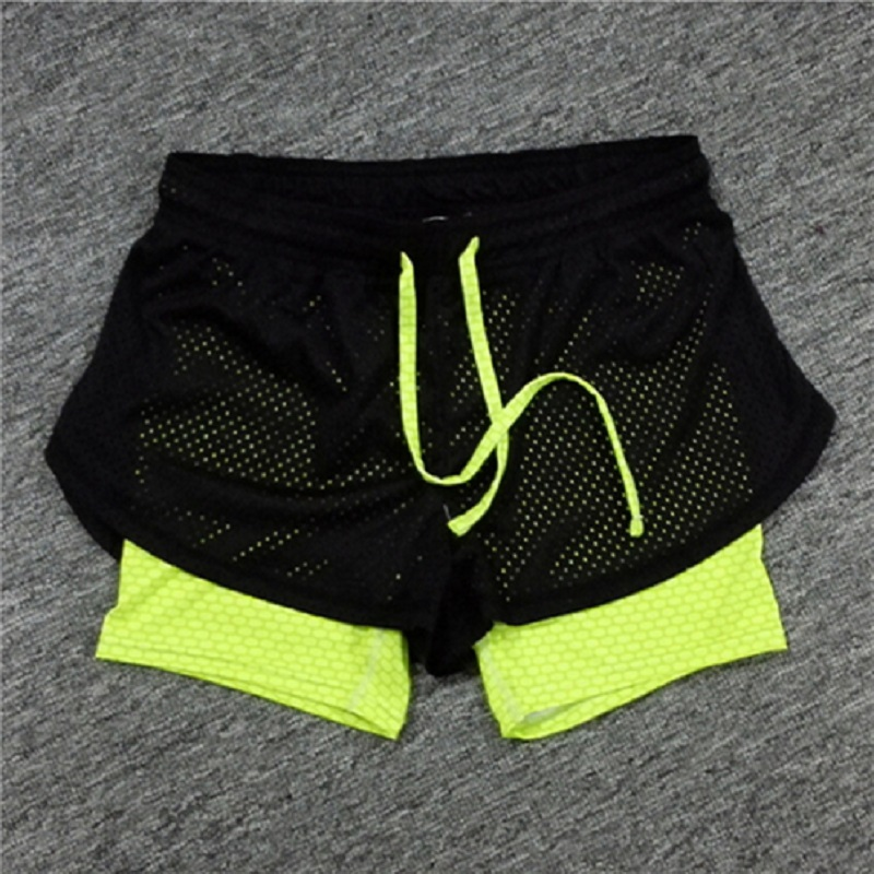 Summer Double Layer Shorts Women Skinny Fitness Shorts Women Elastic Casual Shorts Female Joggings Pantalones Cortos Mujer