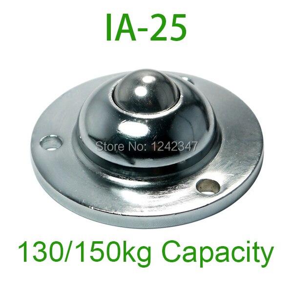 IA25 heavy duty flange fixing ball bearing unit 150kg load capacity IA-25 Ball transfer bearing ball-transfer-units steel caster