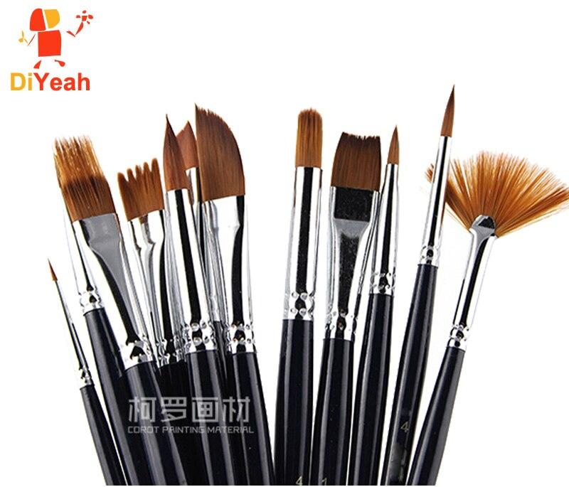 12 pçs pincéis de pintura facial profissional