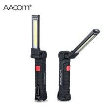 800 люмен COB светодиодный портативный прожектор 5 Вт 10 Вт рабочие огни с магнитными 5 режимами USB Перезаряжаемый высокой яркости энергосберегающий