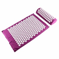 Massager Cushion Mat Set For Body Head Foot Neck Acupressure Relieve Stress Pain Aches Muscle Tension