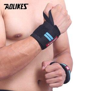 Image 4 - AOLIKES Băng 1 Dây Hỗ Trợ Cổ Tay Nâng Tạ Tập Gym Hỗ Trợ Cổ Tay Nẹp Dây Đeo Crossfit Powerlifting