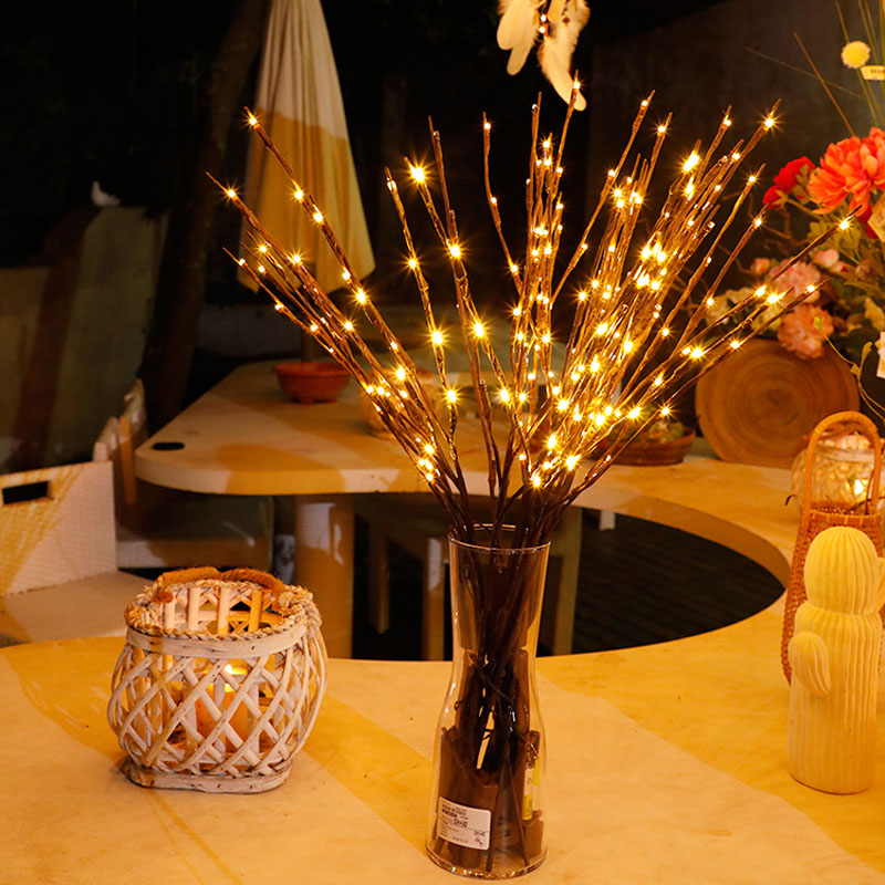2018 New Modern Branch Lamp Floral Light 20LED AA Battery Powered Willow Branch Fairy Light Vase Coffe Bar Wedding Holiday Decor (6)