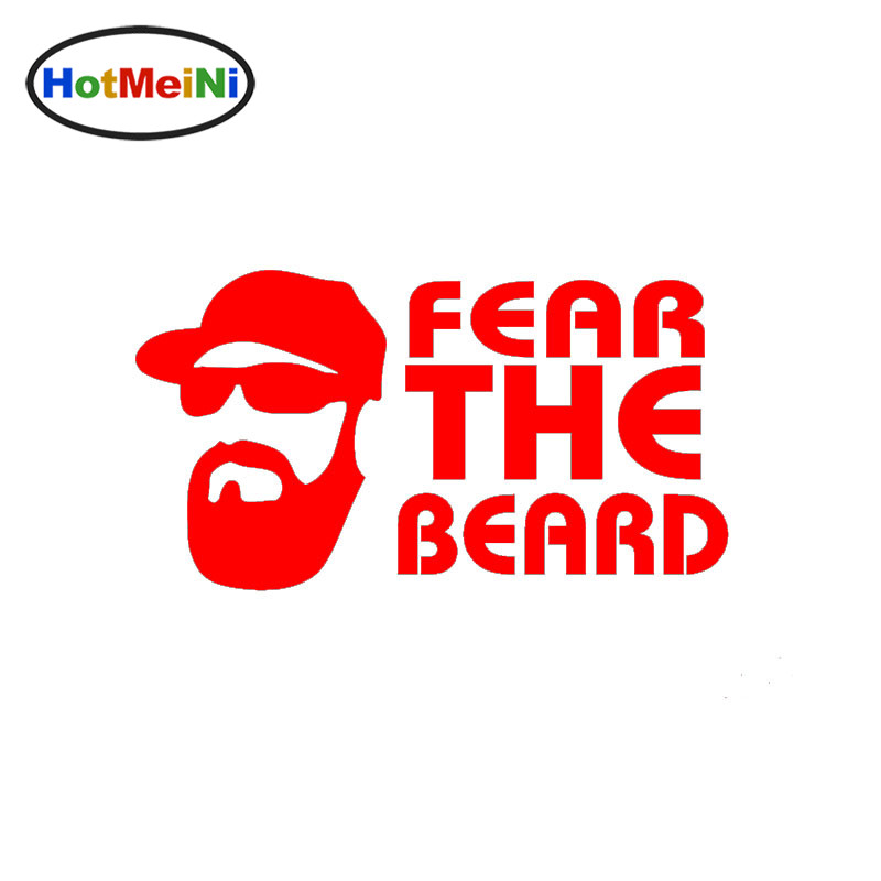 Fashion Old Man Art Lettering Fear The Beard Funny Car Sticker for SUV Laptop Kayak Car Cover Reflective Vinyl Decal10 Colors car