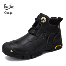 hot deal buy cunge brand winter men's boots casual leather shoes for men martins boots tactical boots waterproof mens warm shoes work shoes