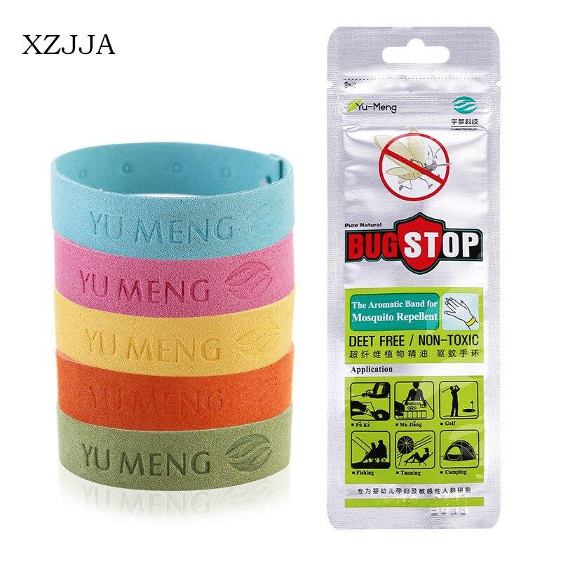 XZJJA 5Pcs Safe Mosquito Repellent Bracelet Deet Waterproof Spiral Wrist Band Outdoor Indoor <font><b>Insect</b></font> Protection Baby Pest Control