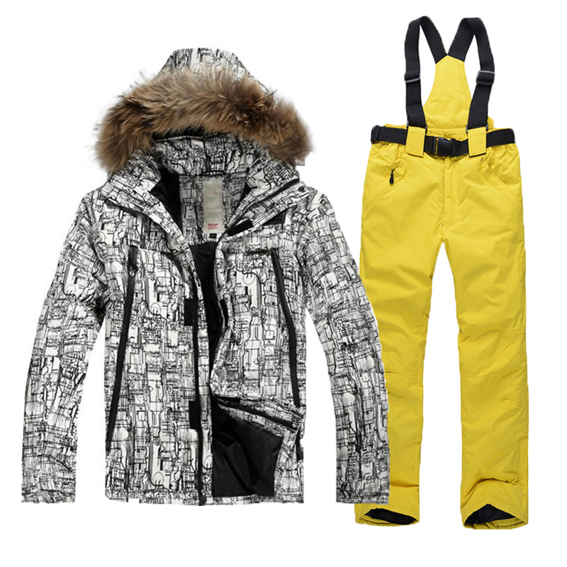 Outdoor font b ski b font wear waterproof overalls font b suit b font boy snowboarding