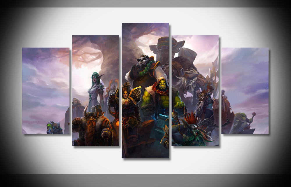 7369 World of Warcraft heroes Poster Framed Gallery wrap art print ...