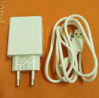 Original 2.0A chargeur de voyage rapide EU prise adaptateur + câble USB pour Oukitel K6000 Pro MT6753 Octa Core 5.5 FHD livraison gratuite