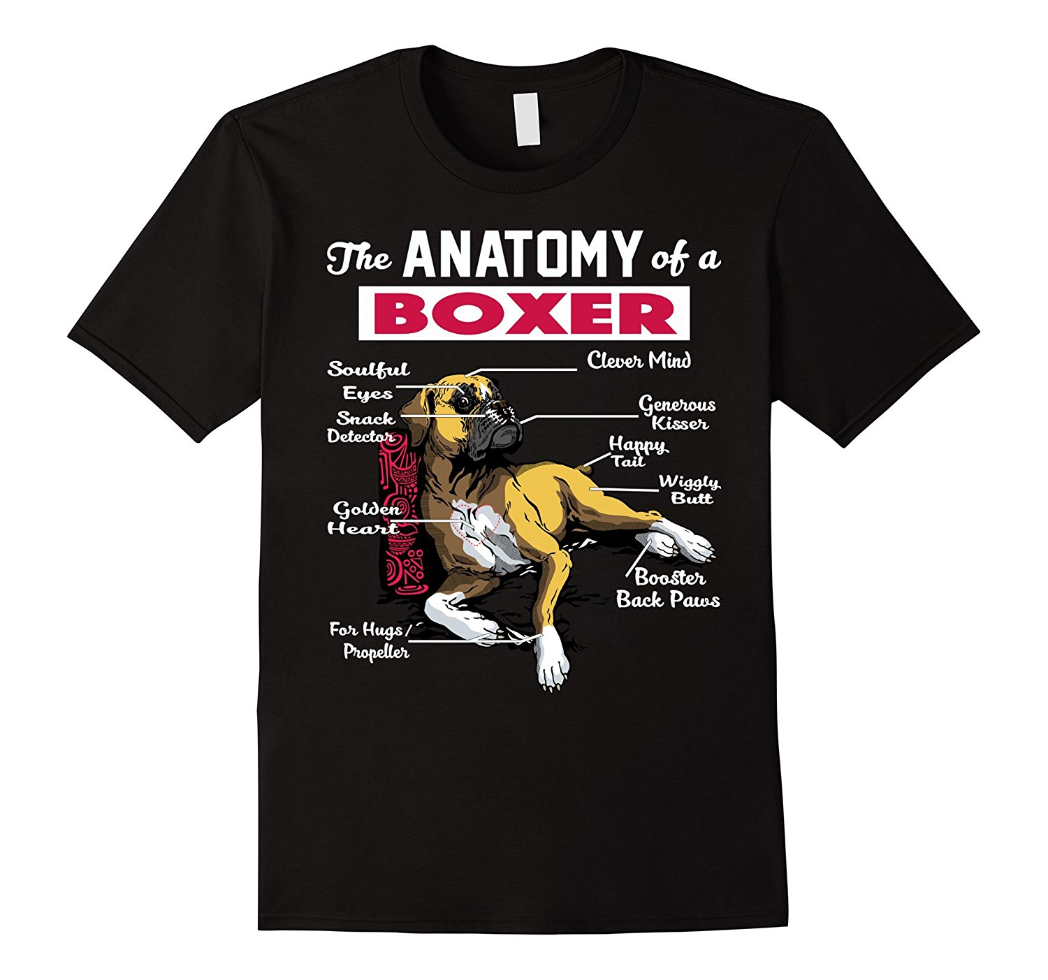 36a4d51fa8c6 Anatomy of A Boxer Dog Shirt - Funny T Shirt for Boxer Lover Brand Clothes  Summer 2018 New Men Cotton T-Shirt