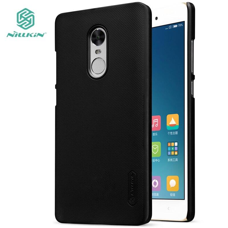 for Xiaomi Redmi Note 4 Nillkin Super Frosted Shield Hard Back PC Cover Case Redmi Note 4X Prime Phone Case +Screen Protector