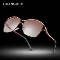 GUANGDU polarized ladies sunglasses graduated lenses fashion trend ladies glasses individuality polarized lens luxury sunglasses