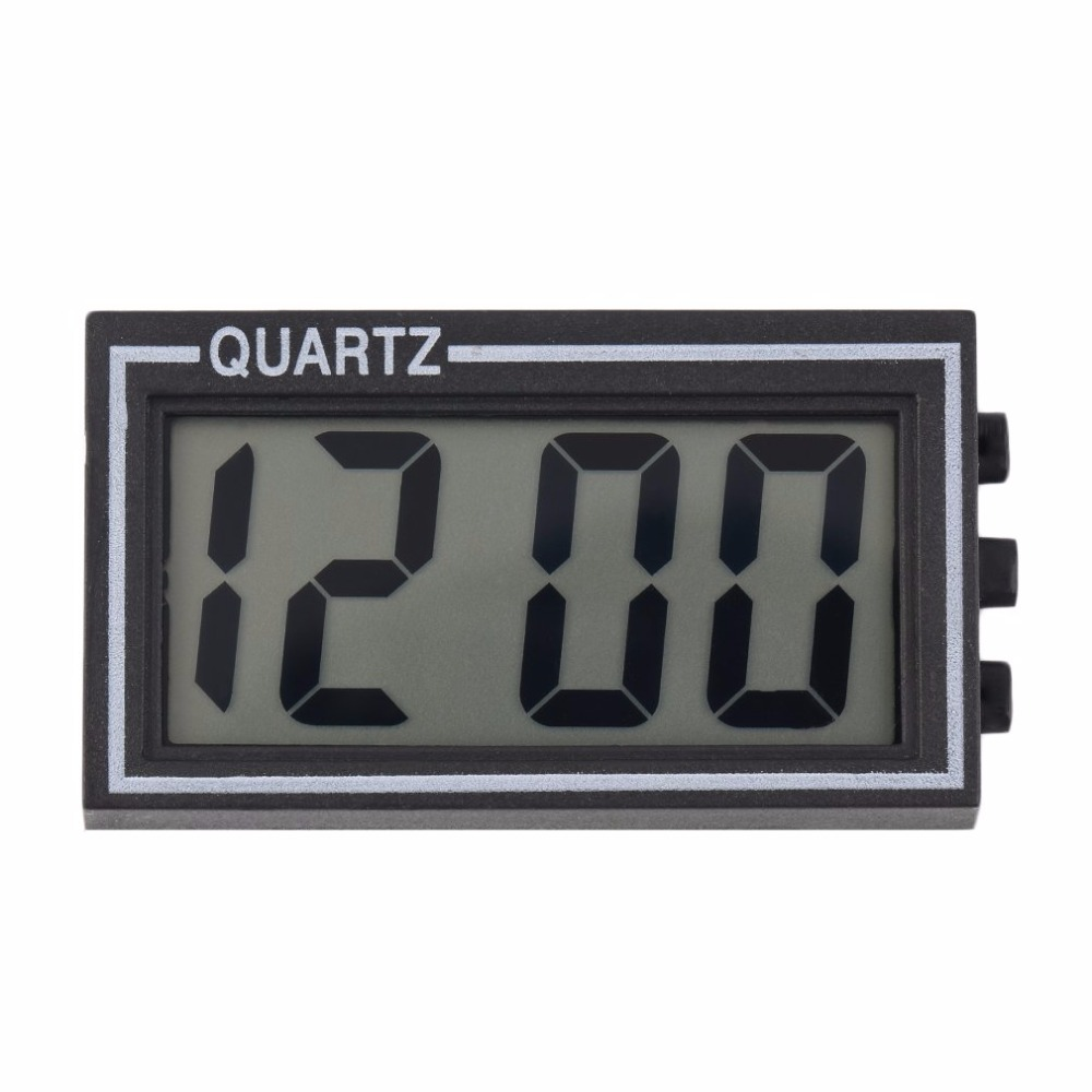 Black Plastic Small Size Digital LCD Table Car Dashboard Desk Date Time Calendar Small Clock With Calendar Function