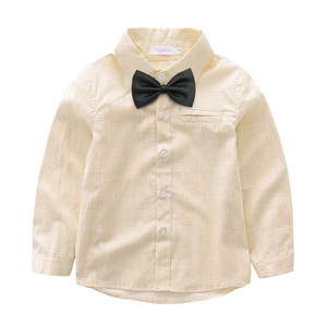Image 5 - Yilaku Baby Boys Clothing Sets Gentleman Outfits Toddler Boy Tuxedo Suits Bow Tie Shirts + Suspender Pants FF461