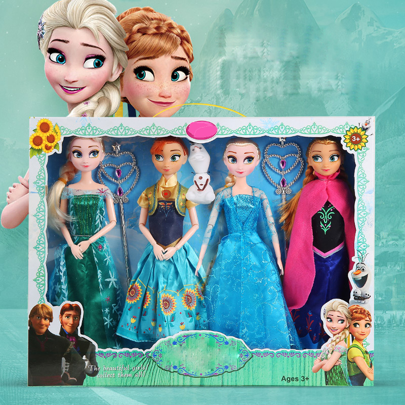 30cm Dolls Princess Elsa Anna Olaf Toys Change clothes Accessories Toy for Girl Birthday Christmas Gift Suit handmade chinese ancient doll tang beauty princess pingyang 1 6 bjd dolls 12 jointed doll toy for girl christmas gift brinquedo