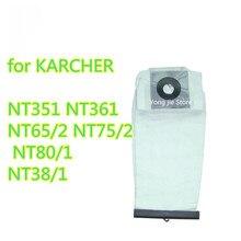 Jakość nadający się do prania części dla KARCHER odkurzacz odkurzacz tkaniny filtr pyłowy torby NT351 NT361 NT65/2 NT75/2 NT80/1