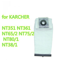 Qualità Lavabile Vacuum Cleaner parts Per KARCHER ASPIRAPOLVERE Panno Filtro ANTIPOLVERE BORSE NT351 NT361 NT65/2 NT75/ 2 NT80/1