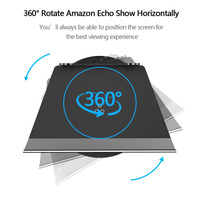 Echo Show Stand 2nd Generation,Aluminum Stand for Amazon Echo Show 2nd Horizontal 360 Rotation Tilt Stand shipPing from US