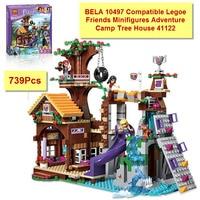 2016 BELA 10497 Building Bricks Compatible Legoe Friends Blocks Adventure Camp Tree House 41122 Emma Mia
