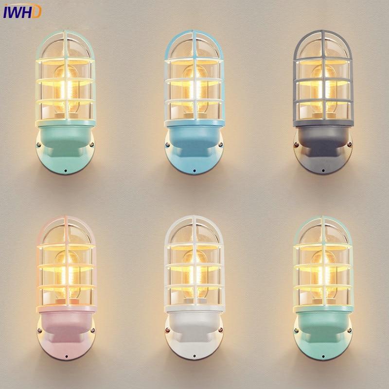 wandlamp nordic conduziu a luz de parede ao ar livre iluminacao sombra vidro lampada parede ao